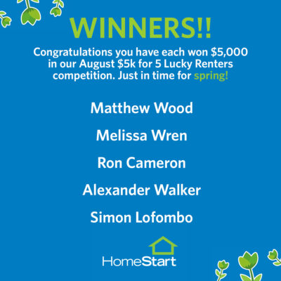 August $5k Lucky Winners