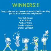 Congratulations to our May Lucky Winners