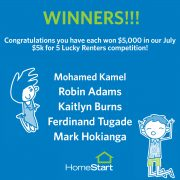 Congratulations to our July Lucky Winners