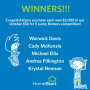 Congratulations to our Lucky October Winners