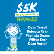 Congratulations to our Lucky February $5K Winners